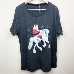 WILDFOX • Santa Rides Unicorn T-Shirt